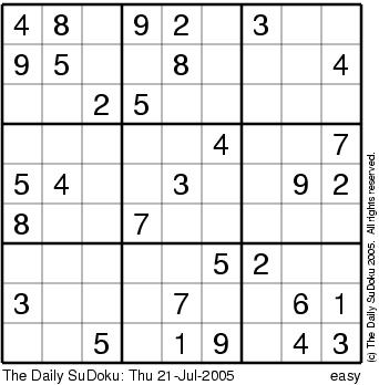 Sudoku nessuno for Sudoku facile da stampare